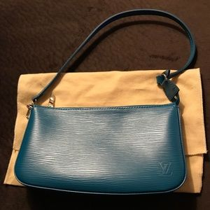 Authentic Louis Vuitton Pochette in Epi Cyan